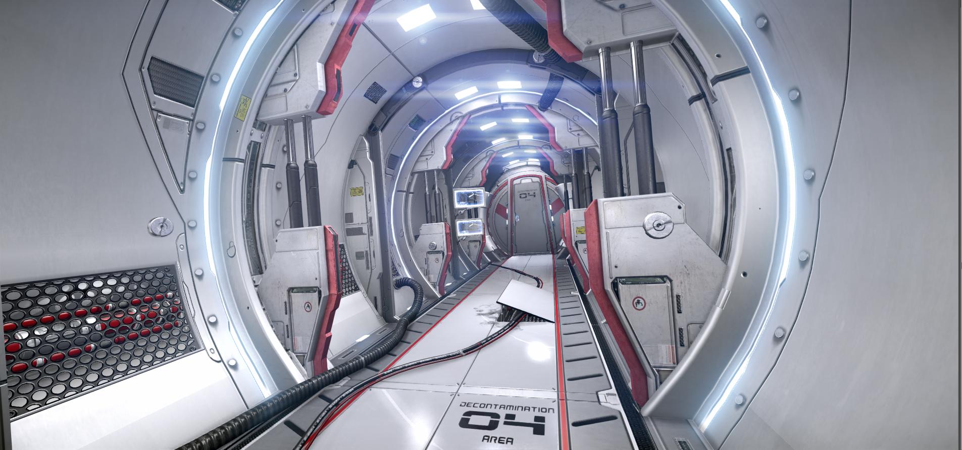Sci fi cylinder tunnel scene by pontus ryman level for Sci fi decor